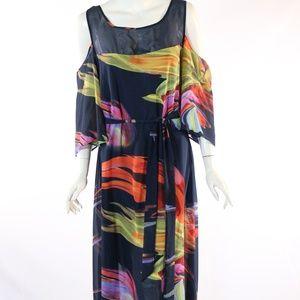 Avenue Women's Size 16W Blue/Multi Dress